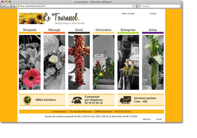 Page accueil site letournesol.com