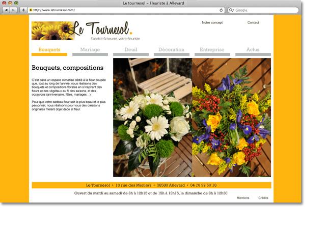Page intérieure site letournesol.com