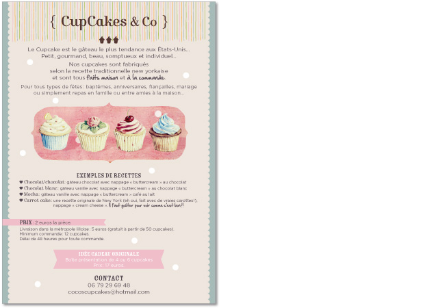 Flyer Cupcakes & Co