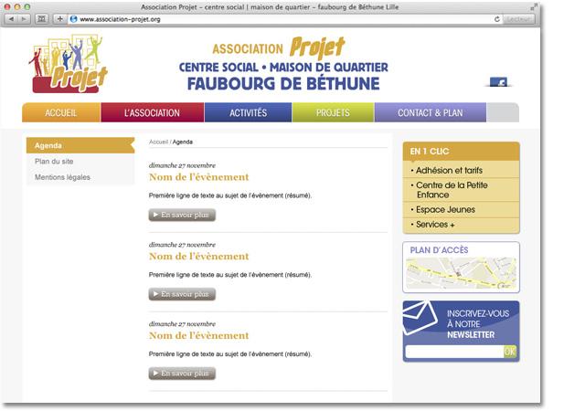 Association Projet exemple de page intérieure