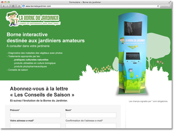 Page d'attente du site La Borne du Jardinier