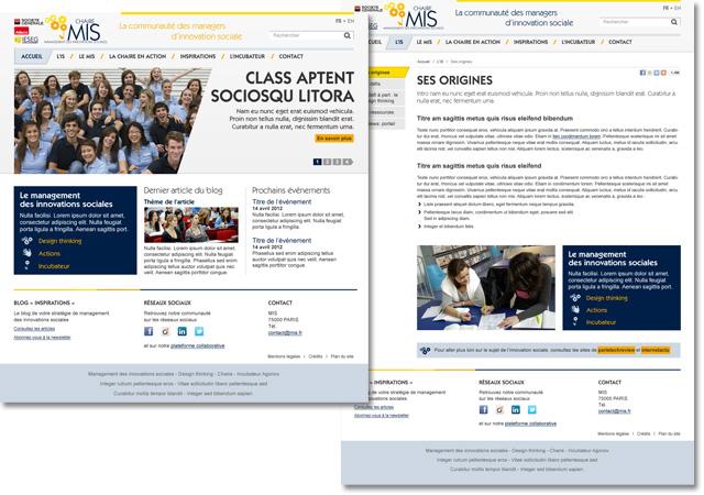 Site internet de la chaire MIS
