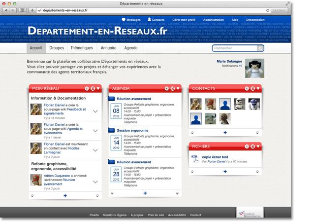 Départements en réseaux : page d'accueil