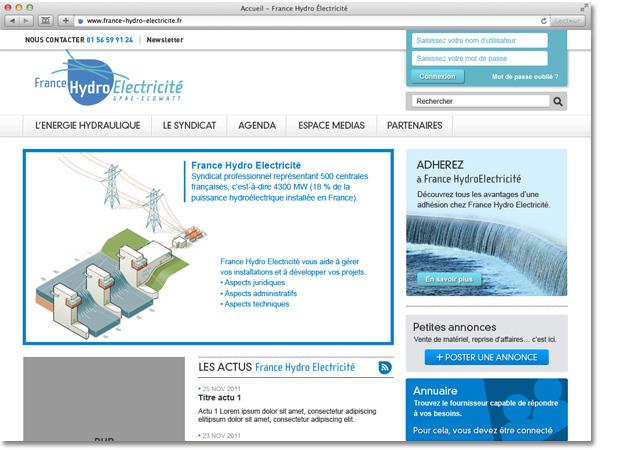 Site internet France Hydro Electricité : proposition non retenue