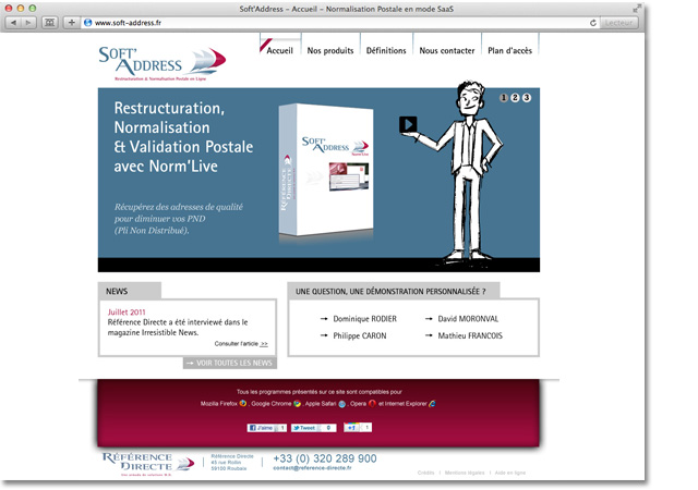 Site internet Soft Address : accueil carrousel étape 1