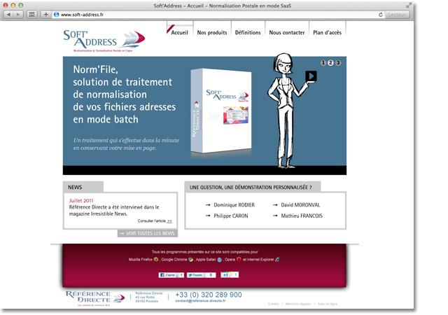 Site internet Soft Address : accueil carrousel étape 2