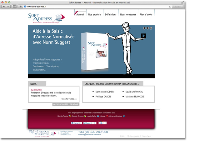 Site internet Soft Address : accueil carrousel étape 3